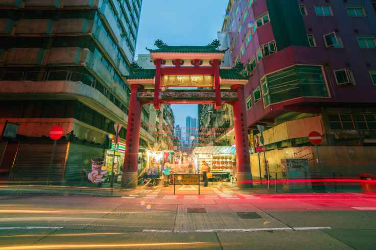 timelapse photo of china town